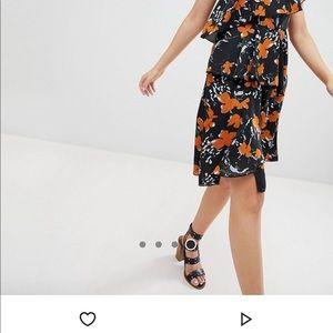 Floral One Shoulder Tiered Dress